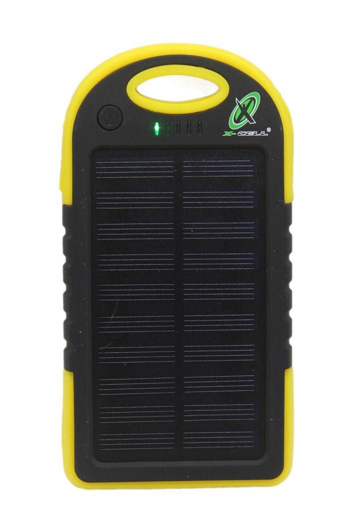 Kit 2 Carregador Portátil Power Bank Solar Charger 3800mAh