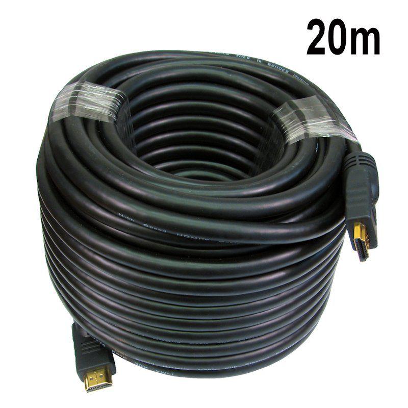 Kit 2x Cabo HDMI 20m FULL HD +  1 Mini Teclado C/ Led