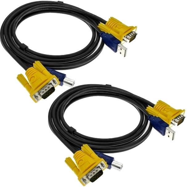 Kit 2x Cabo KVM (VGA+USB) 1,5m