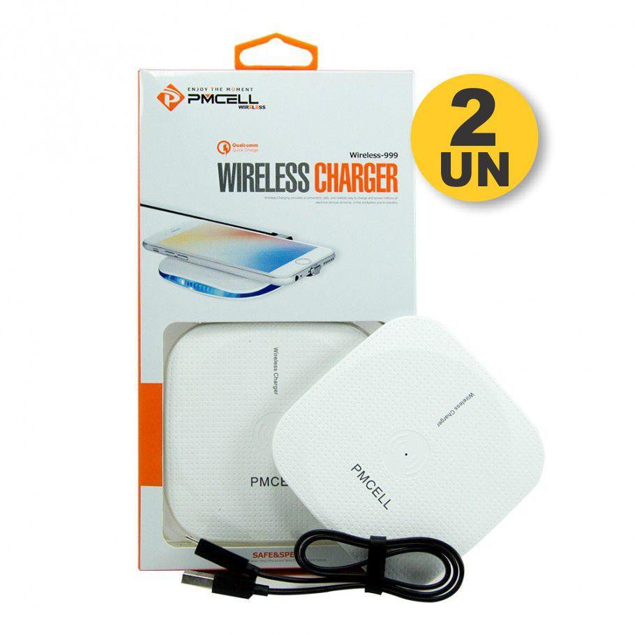 Kit 2x CARREGADOR WIRELESS PMCELL WIRELESS999 WR11