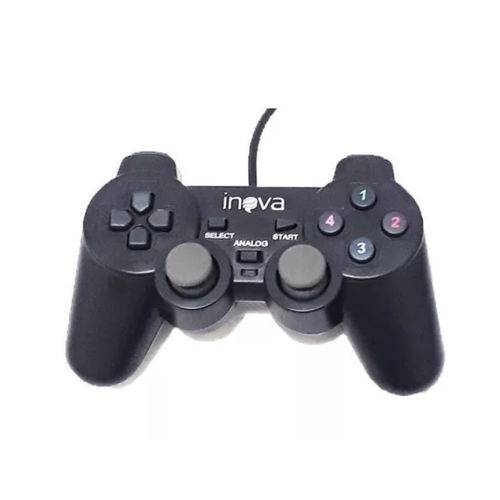 Kit 2x Controle Joystick DualShock USB PC Notebook Inova CON-203Z