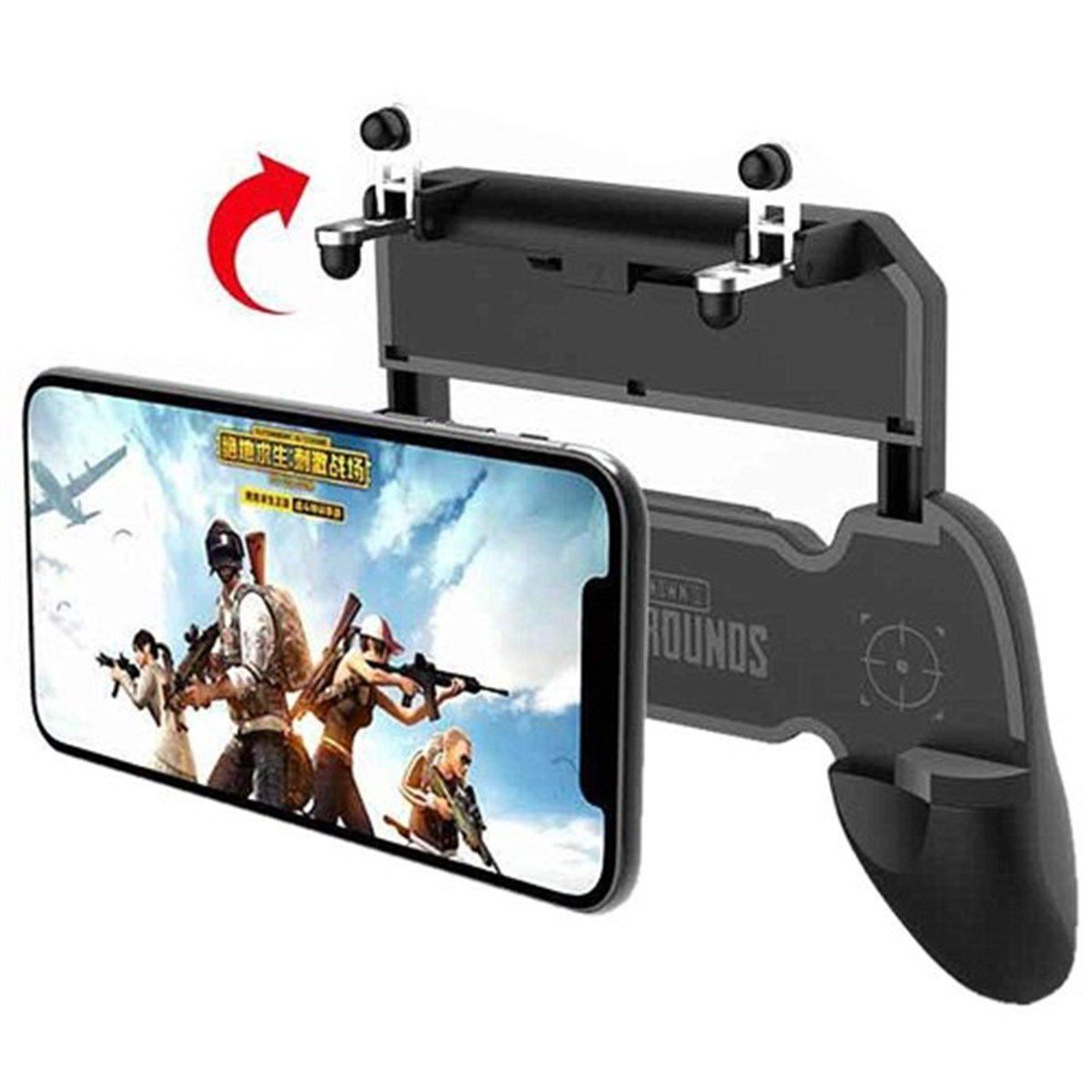 Kit 2x Suporte + Gatilho All In One Gamepad Game Handle P/ Celular W10