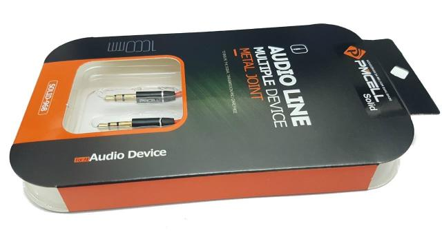 Kit 30x FONE DE OUVIDO SLIM PMCELL POWER897 FO12 + 10x CABO AUXILIAR P2/P2 PMCELL SOLID968 CB14