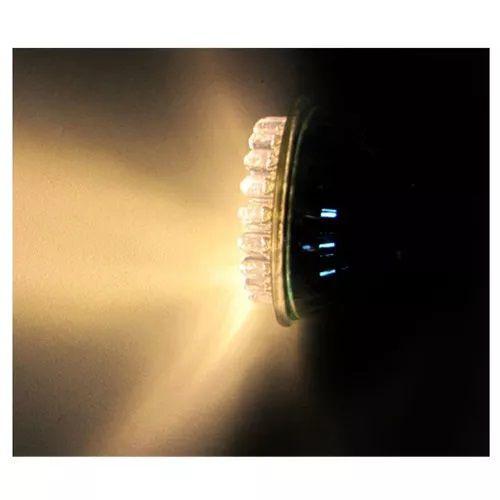 Kit 3 Spot Quadrado Alumínio + 5 Lampada 38 LED Branco Morno Mr16