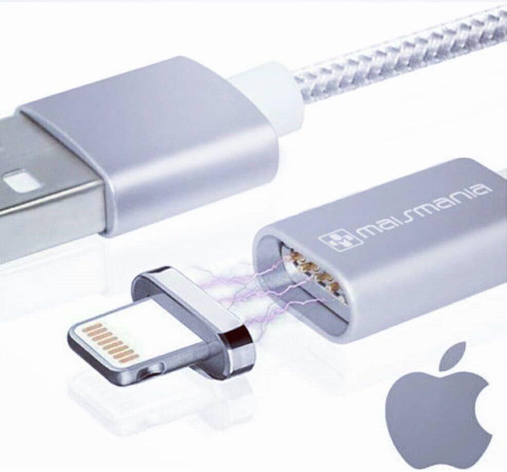Kit 3x Cabo Dados Conectores Magnético 1x Micro-USB 1x Lightning e 1x Tipo-C