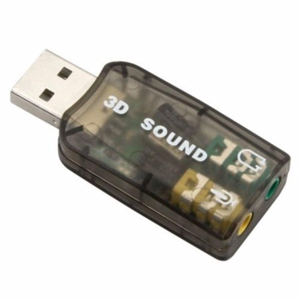 Kit 3x Placa de Som Externa USB 2 Canais