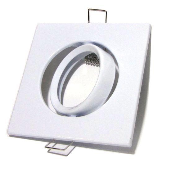 Kit 40 Spot Direcionável Quadrado Branco MR16
