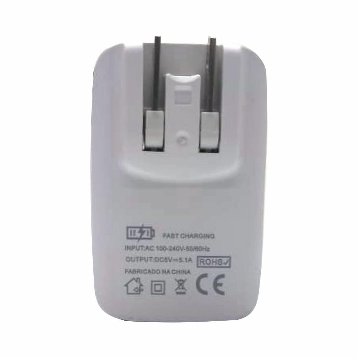 Kit 4 Carregador Rápido Inova 5.1A 3 Entradas USB CAR-8161 Atacado