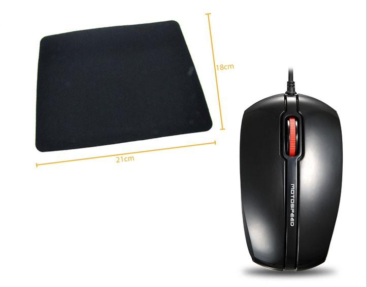 Kit 5: Mouse Optico F300 R8 + Mousepad Antiderrapante Oletech