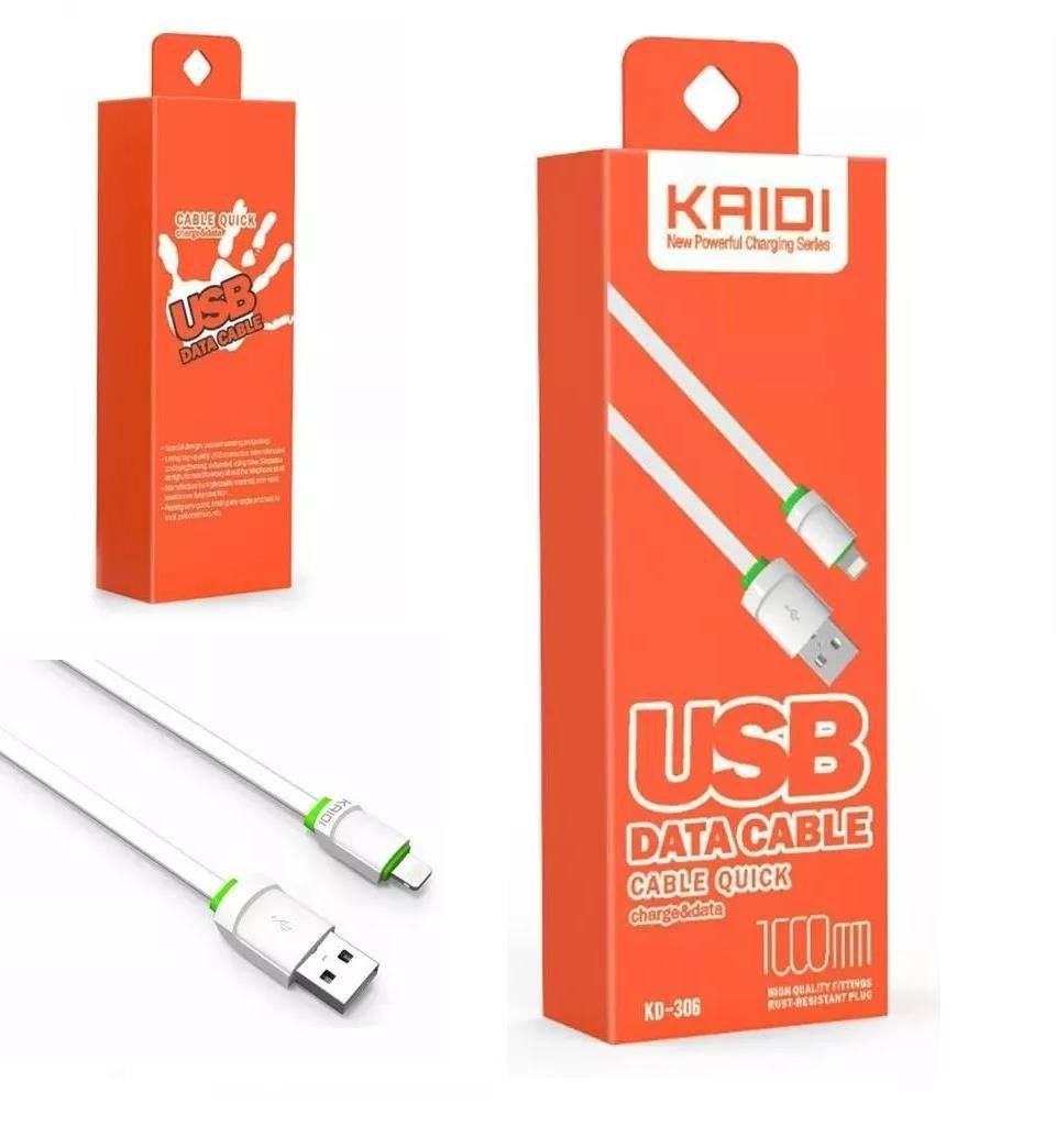 Kit 5x Cabo de Dados USB | 1M Lightning | Kaidi KD306