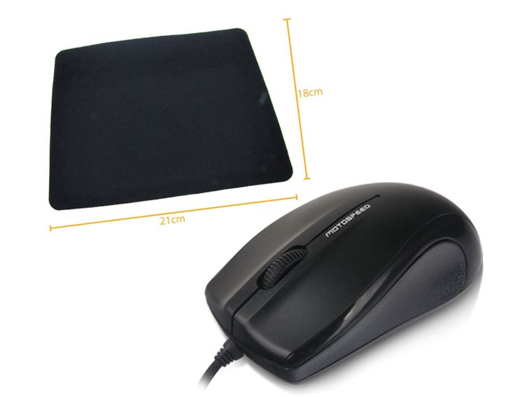 Kit 7: Mouse Optico F333 R8 + Mousepad Antiderrapante Oletech
