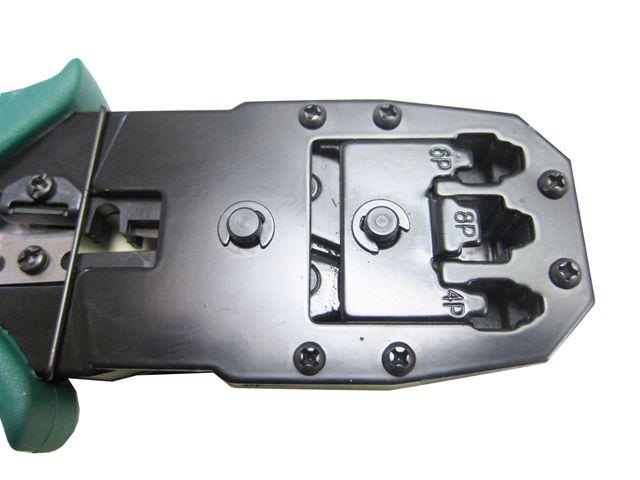 Kit Alicate De Crimpar + Decapador + 200 Conectores Cat5e Blindado
