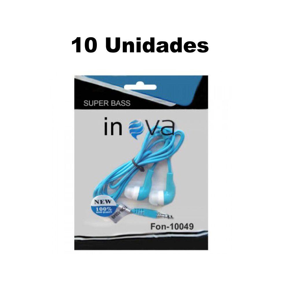 Kit Atacado 10 Fone Ouvido Inova