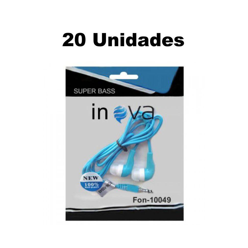 Kit Atacado 20 Fone Ouvido Inova