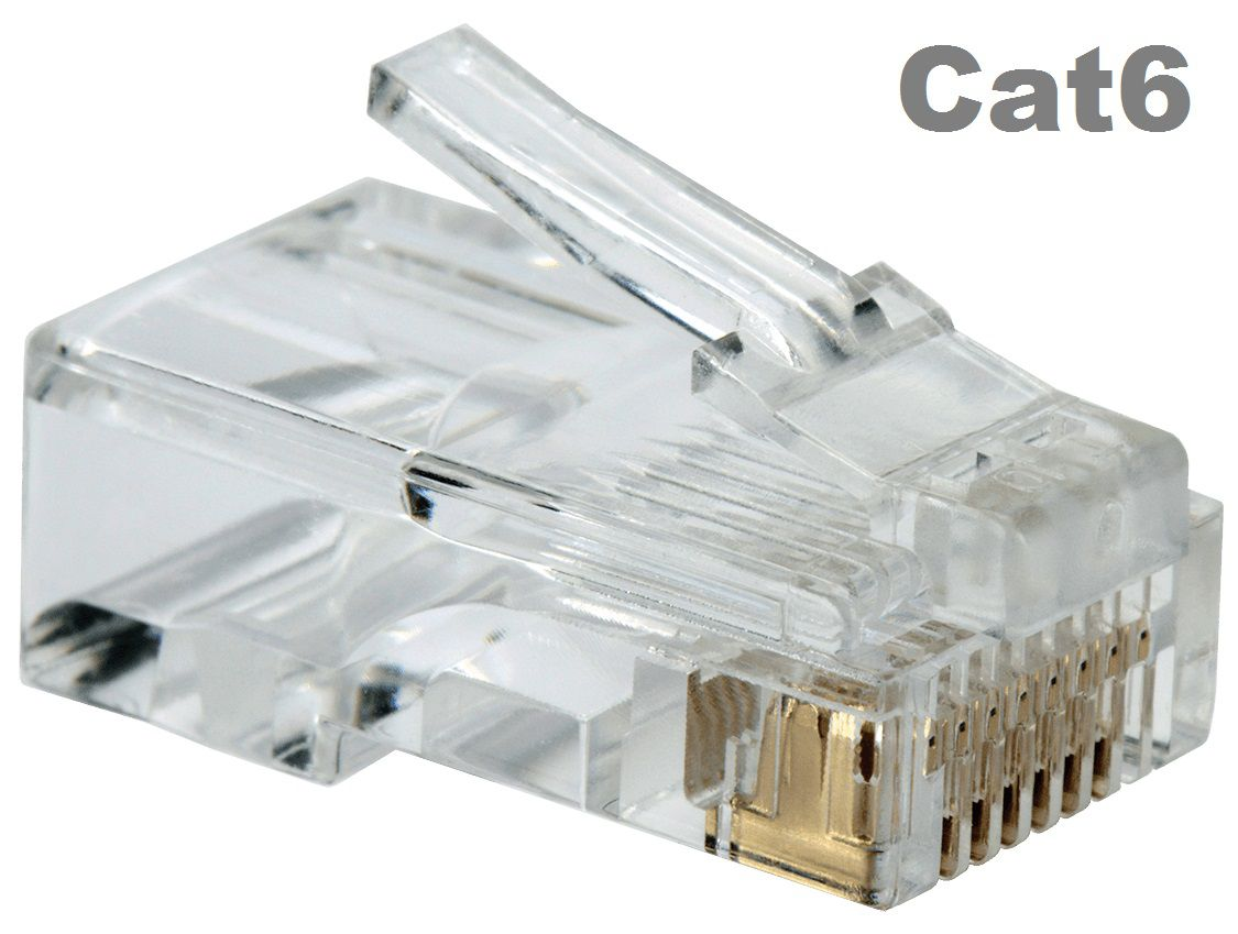 Kit Cabo Rede Cat6 305m + 100 Conectores RJ45 Cat6 Oletech
