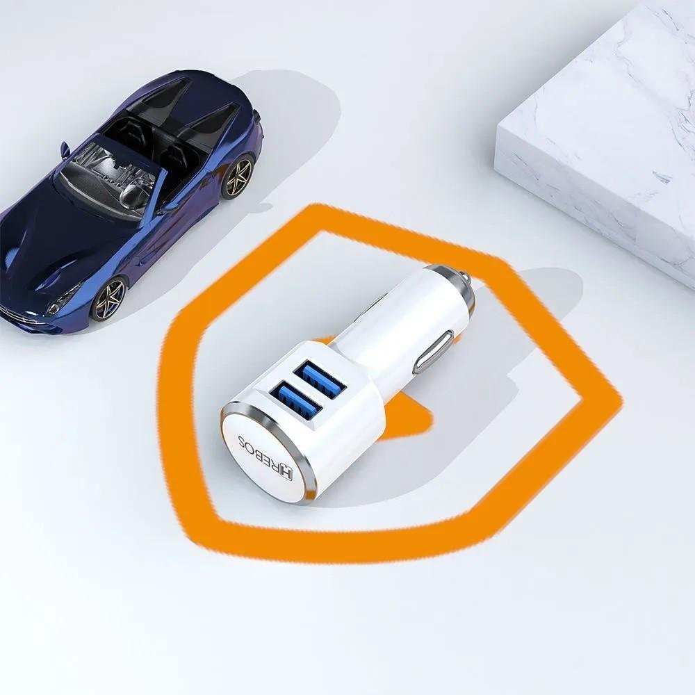 Kit Carregador Veicular Turbo 3.4 A - Dual USB + Cabo Turbo Lightning HS-98
