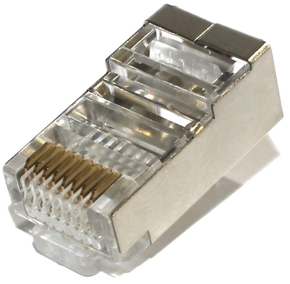 kit Conector Blindado CAT5e RJ45 (200 unidades)