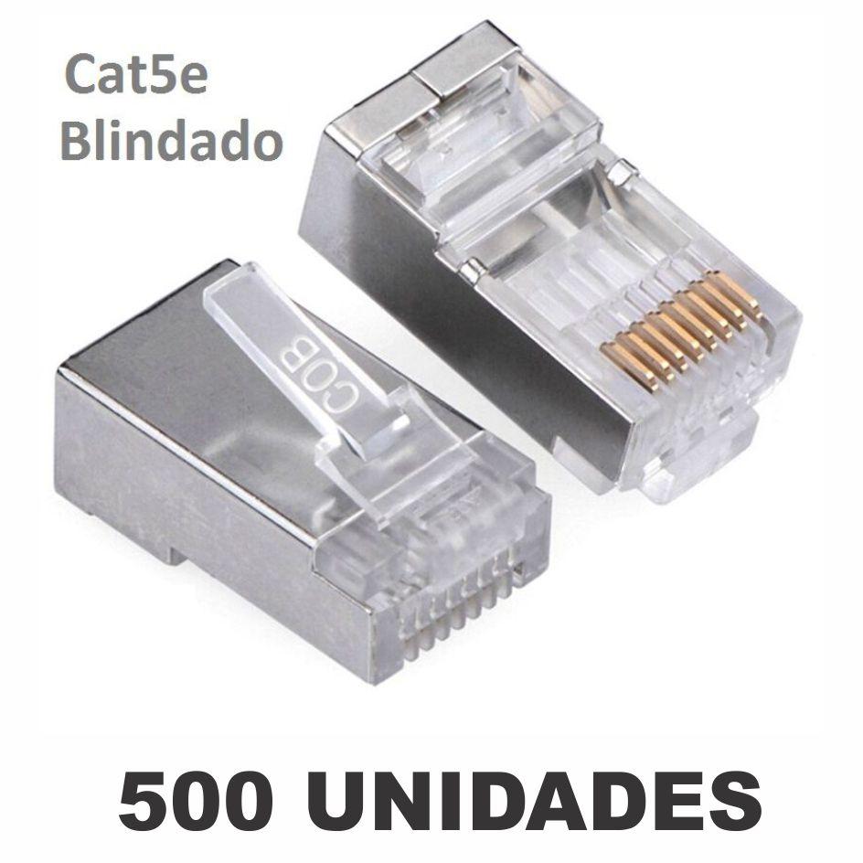 Kit Conector Blindado CAT5e RJ45 (500 unidades)