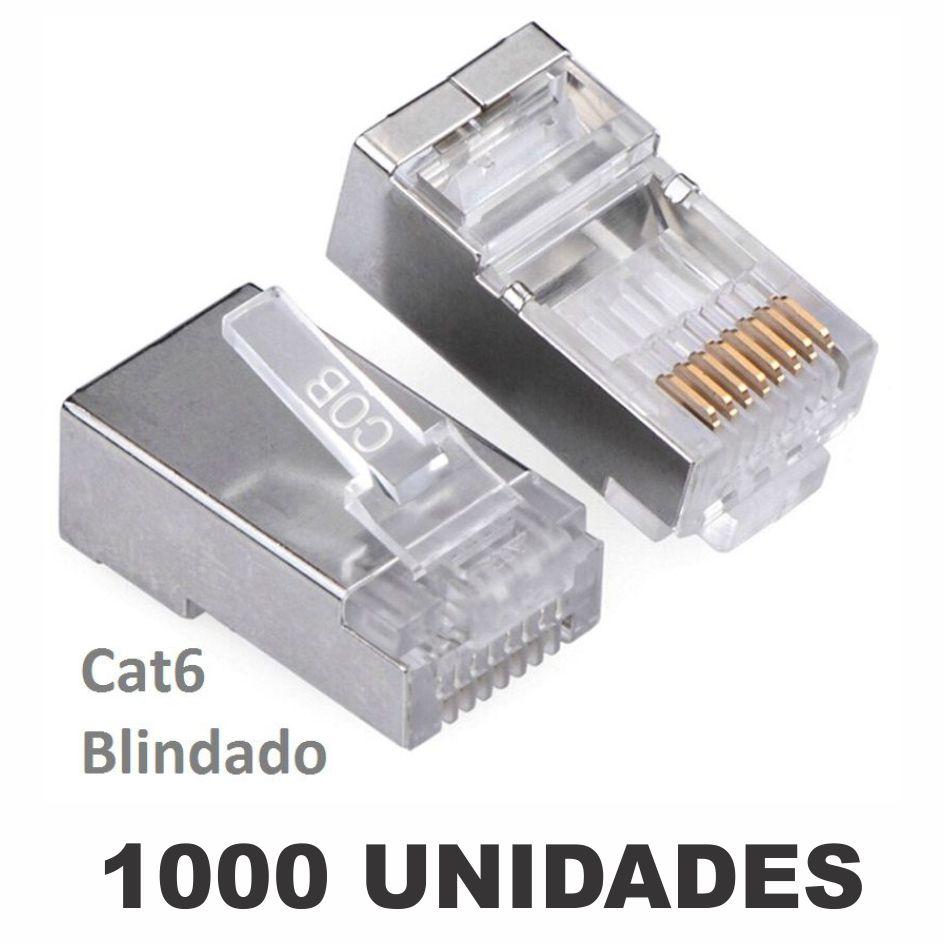 Kit Conector Blindado CAT6 RJ45 (1000 unidades)