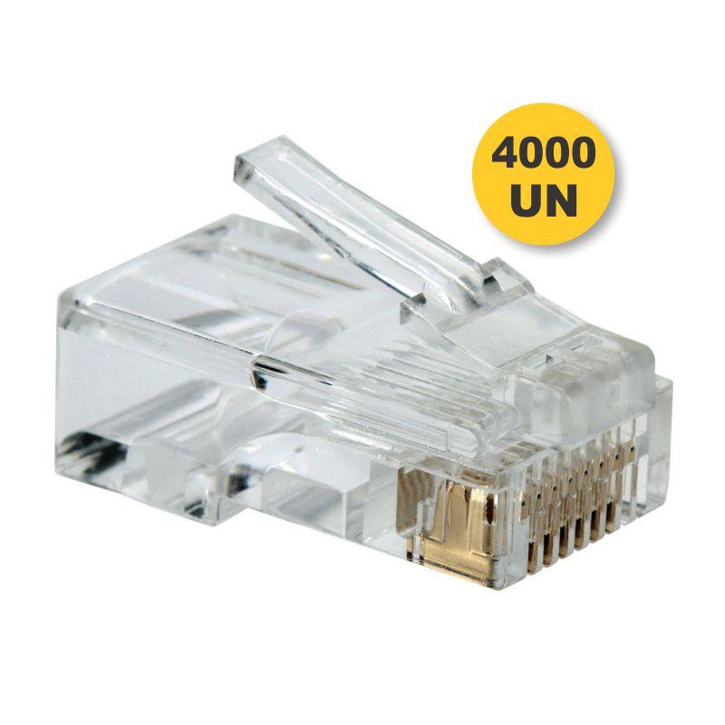 Kit Conector Cat5e RJ45 (4000 unidades)