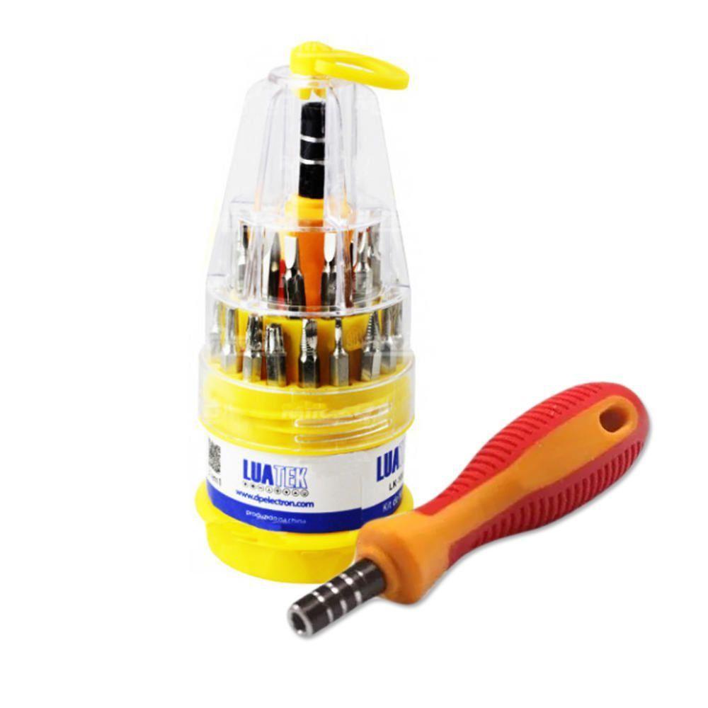 Kit Ferramentas Manuais 31 Chaves de Precisão p/ Manutenção de Celular Luatek