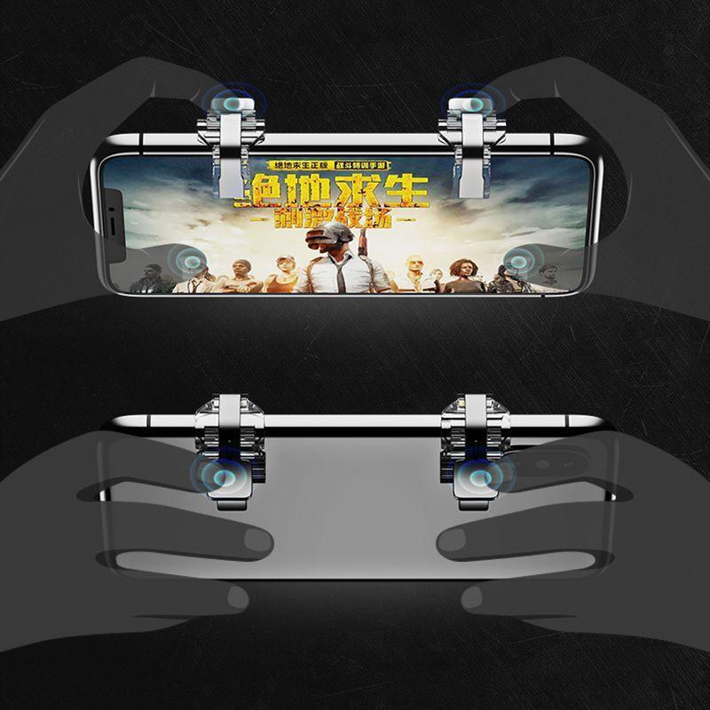 Kit Gatilho + Suporte Gamepad Game Handle P/ Celular Freefire
