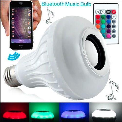 Lampada LED RGB Bluetooth Toca Música C/ Controle