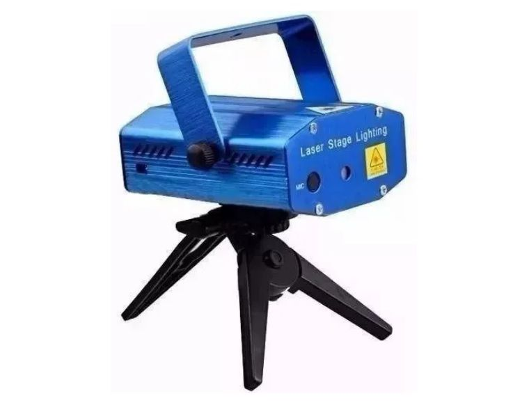 Mini Laser Projetor Holografico Tripe Lua Tek - Lk173