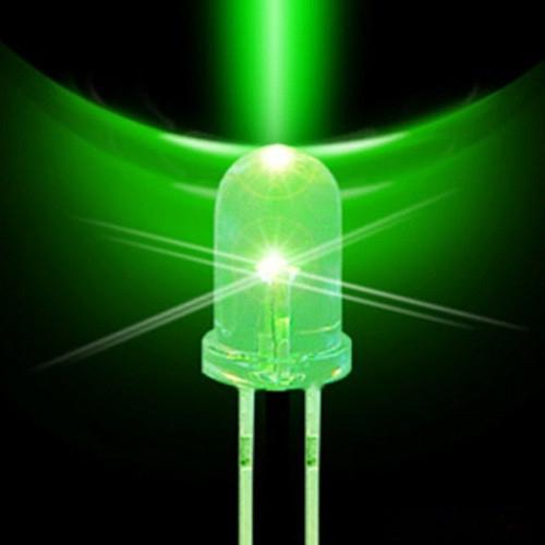 Led 5mm (Pacote 1000un) Verde