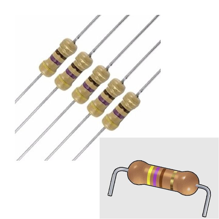 Led 5mm + Resistor (Pacote 1000un) Azul