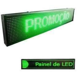 Letreiro Painel De Led USB 96 x 16 - VERDE- LK-G10020 LUATEK