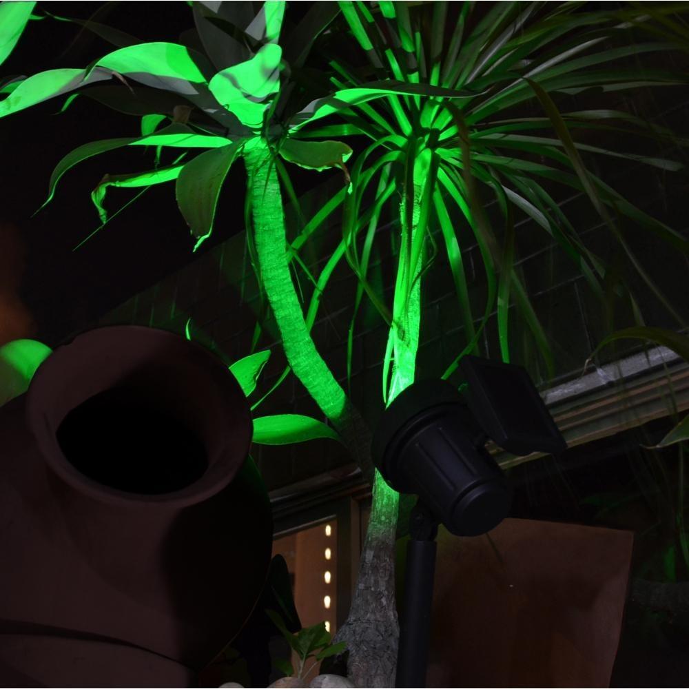 Luminária Solar de Jardim Refletor Led Verde