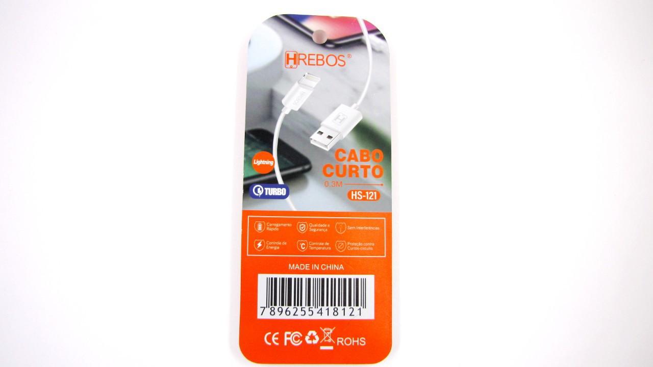 Mini Cabo USB Lightning HS121 - HREBOS
