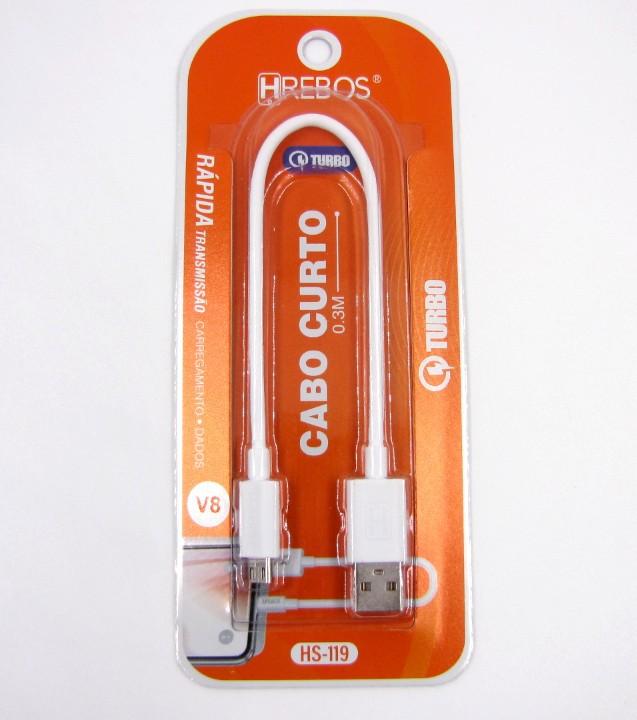 Mini Cabo USB Micro USB V8 HS119 - HREBOS