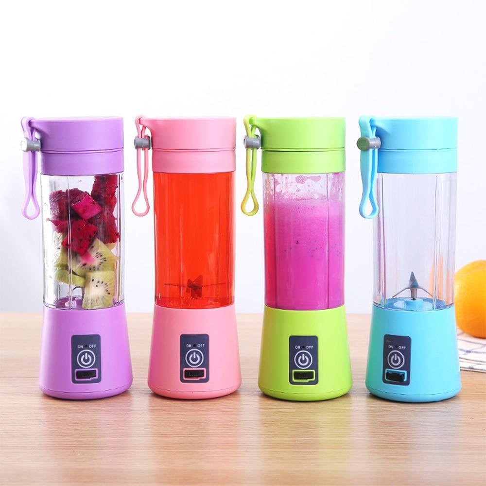 Mini Liquidificador Portátil USB Juice Cup Shake 6 Lâminas