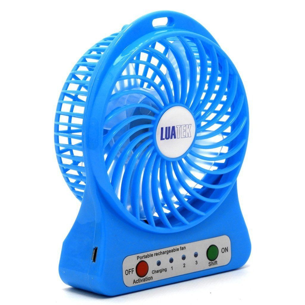 Mini Ventilador Portátil Mesa Recarregável Usb 3 Velocidades