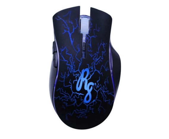 Mouse Gamer Optico 6D 2400PI RGB LED R8
