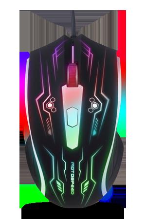 Mouse Gamer Optico LED F405 Motospeed