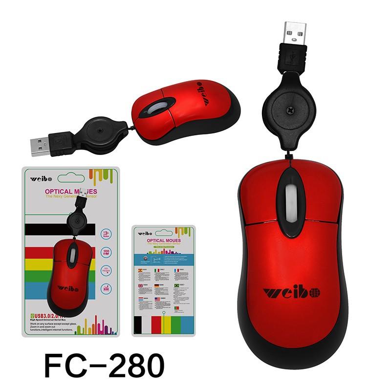 Mouse Optico Retratil FC-280USB - WEIBO