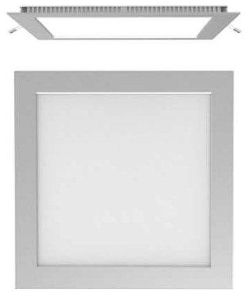 Plafon Painel Quadrado Led Slim 6W Branco Puro
