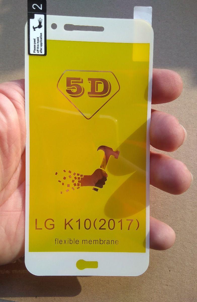 Película 5d Flexível Nano Gel Lg K10 Toda Tela 2017