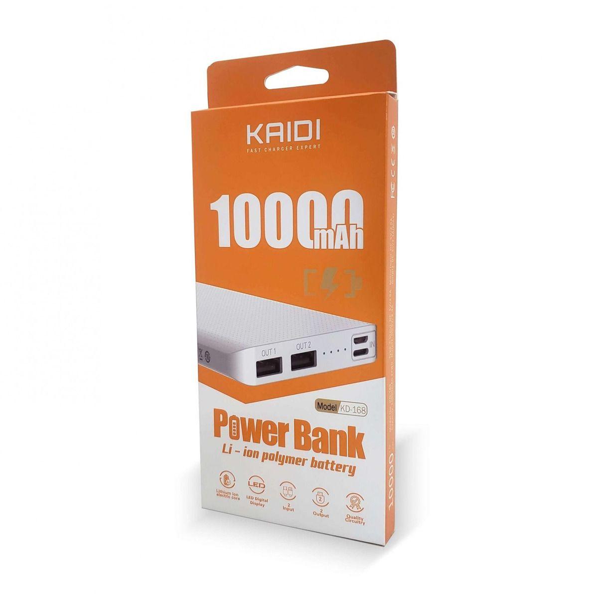 Power Bank Kaidi KD168 10.000 Mah entrada Tipo-C
