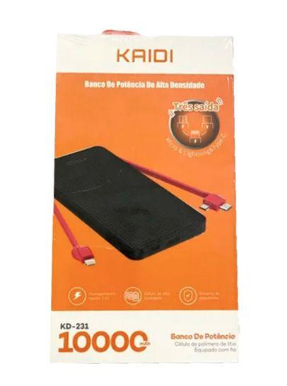 Power Bank Kaidi KD231 10.000 Mah Original Universal