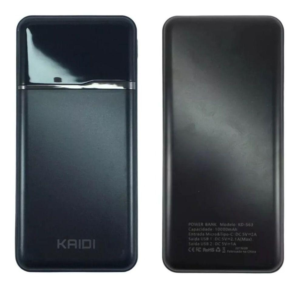 Power Bank Kaidi KD563 10.000 Mah c/ Visor digital