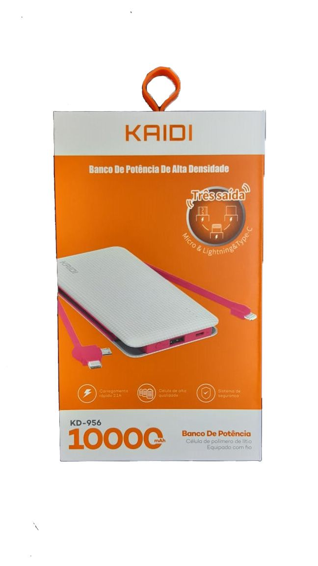Power Bank Kaidi KD956 10.000 Mah Original Universal