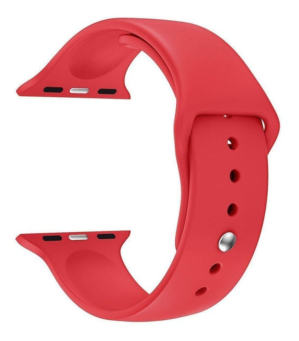 Pulseira Silicone Sport Liso p/ Apple Watch 42/44mm