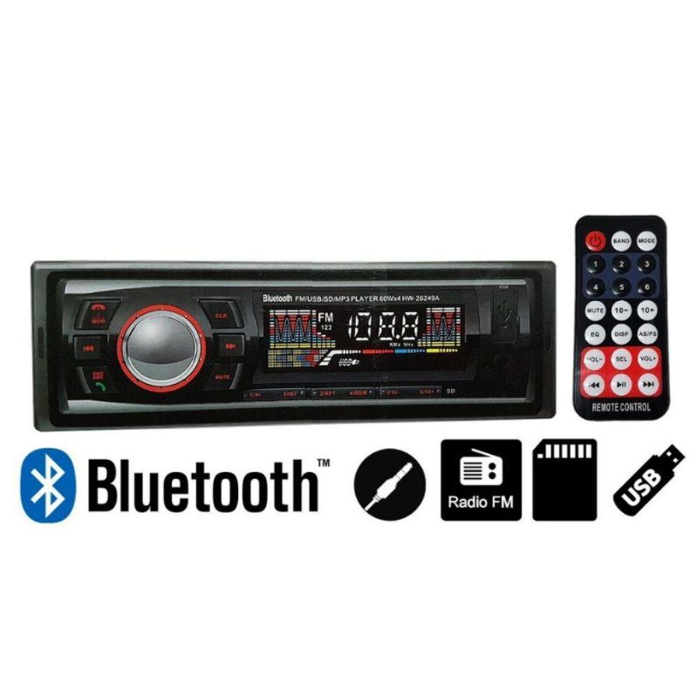 Radio Veicular Hw-2649A Usb Mp3 FM Bluetooh