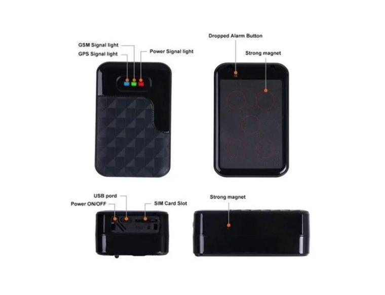 Rastreador Veicular Gsm G200 Sem Fio Recarregável Prova Aguá