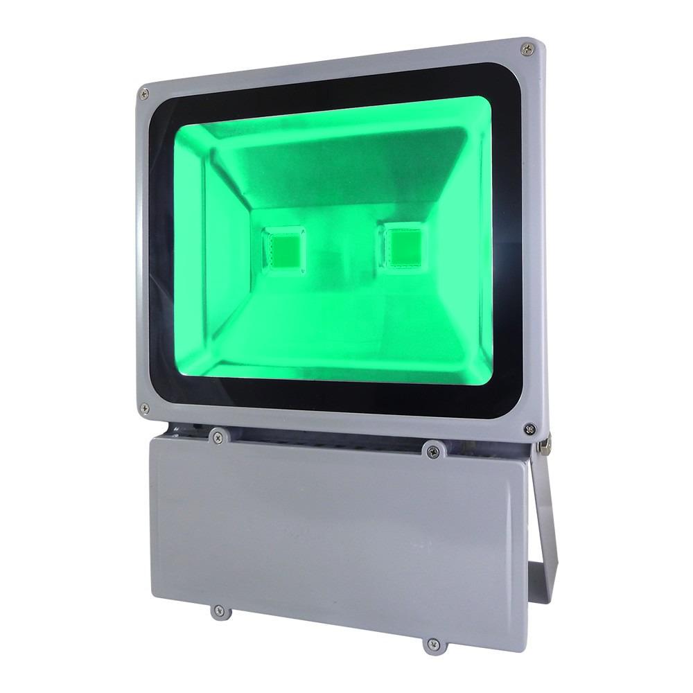 Refletor Holofote Super Led Verde 100W