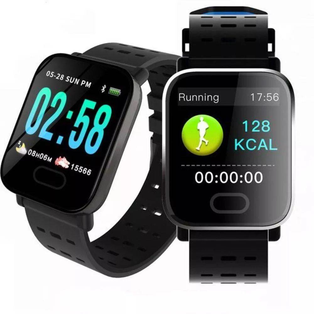 Relogio Bluetooth Smartwatch A6 Medidor Pulso Freqüência Cardíaca
